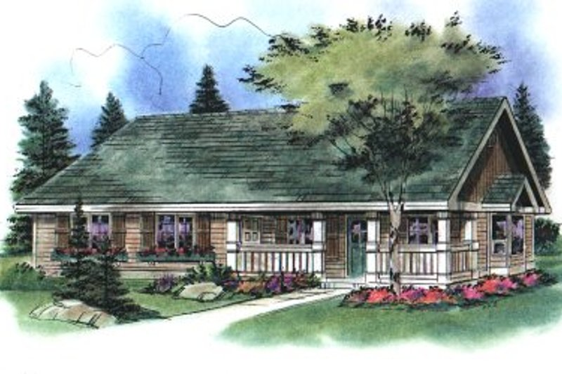 House Blueprint - Country Exterior - Front Elevation Plan #18-1041