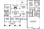 Traditional Style House Plan - 3 Beds 2.5 Baths 2067 Sq/Ft Plan #21-347 Floor Plan - Main Floor Plan