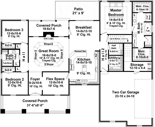 Traditional Floor Plan - Main Floor Plan Plan #21-347