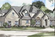 European Style House Plan - 4 Beds 4 Baths 4488 Sq/Ft Plan #17-524 Exterior - Front Elevation
