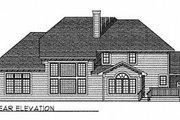 Traditional Style House Plan - 4 Beds 3.5 Baths 3521 Sq/Ft Plan #70-527 Exterior - Rear Elevation