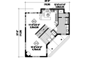 Country Style House Plan - 3 Beds 3 Baths 2281 Sq/Ft Plan #25-4743 Floor Plan - Main Floor Plan