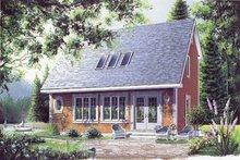 Cottage Exterior - Front Elevation Plan #23-2018