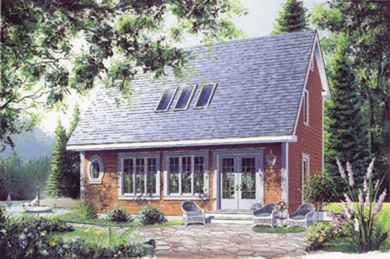 Cottage Exterior - Front Elevation Plan #23-2018