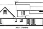Country Style House Plan - 4 Beds 2.5 Baths 2110 Sq/Ft Plan #42-348 Exterior - Rear Elevation
