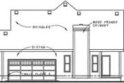 Cottage Style House Plan - 2 Beds 2 Baths 1375 Sq/Ft Plan #20-1208 Exterior - Rear Elevation