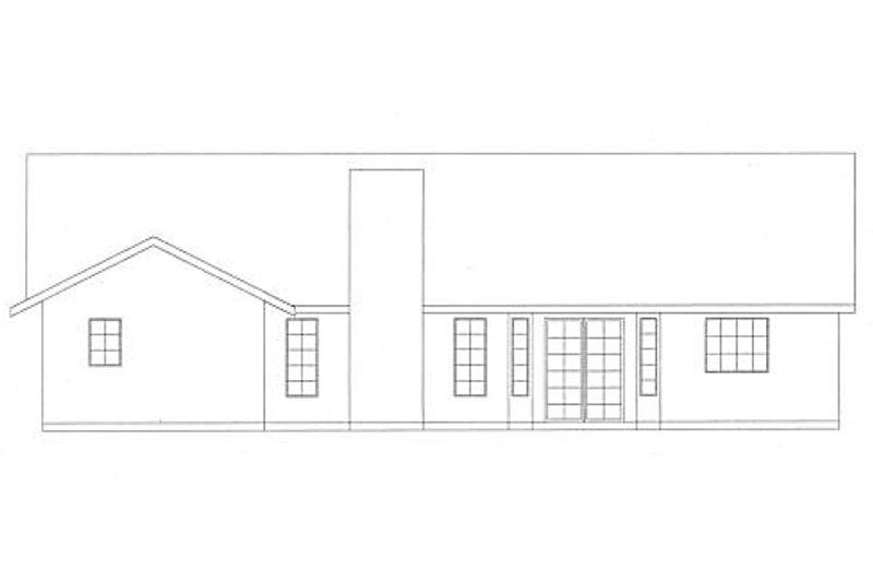 Country Exterior - Rear Elevation Plan #437-7 - Houseplans.com