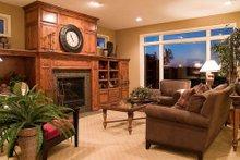 Craftsman Interior - Family Room Plan #56-588