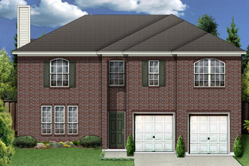 Traditional Exterior - Front Elevation Plan #84-352 - Houseplans.com