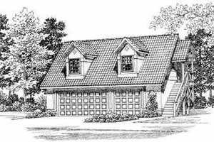Traditional Exterior - Front Elevation Plan #72-285