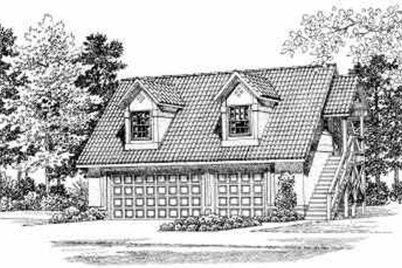 House Blueprint - Traditional Exterior - Front Elevation Plan #72-285
