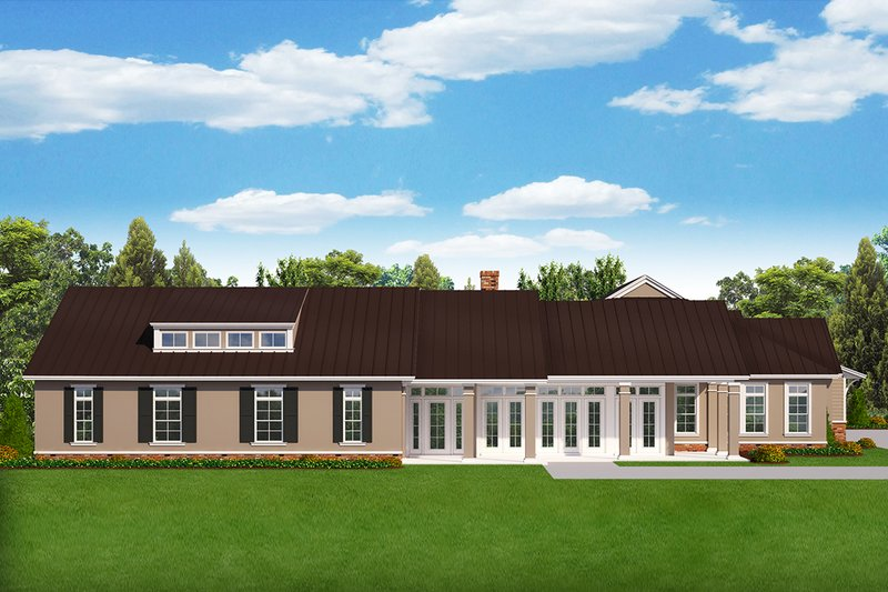Country Style House Plan - 5 Beds 5 Baths 4233 Sq/Ft Plan #1058-177 Exterior - Front Elevation