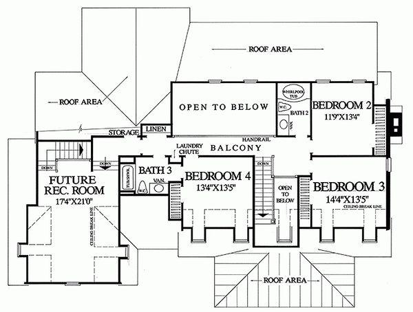 Country Floor Plan - Upper Floor Plan Plan #137-175