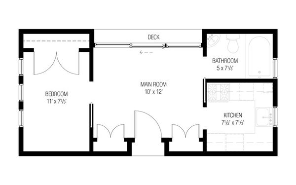 Modern Floor Plan - Main Floor Plan Plan #915-17