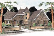 European Style House Plan - 4 Beds 3 Baths 2587 Sq/Ft Plan #20-321 Exterior - Front Elevation