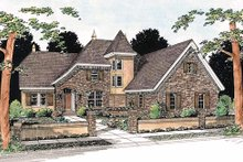 European Exterior - Front Elevation Plan #20-321
