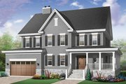 Farmhouse Style House Plan - 4 Beds 4.5 Baths 3621 Sq/Ft Plan #23-669 Exterior - Front Elevation