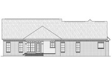 House Plan Design - Country Exterior - Rear Elevation Plan #21-245