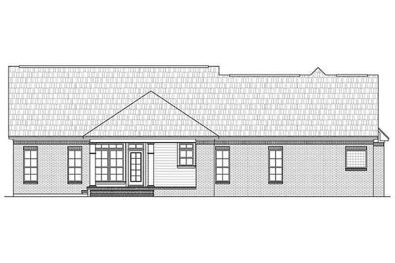 Country Exterior - Rear Elevation Plan #21-245 - Houseplans.com