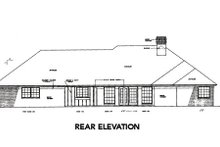 House Design - Traditional Exterior - Rear Elevation Plan #310-220