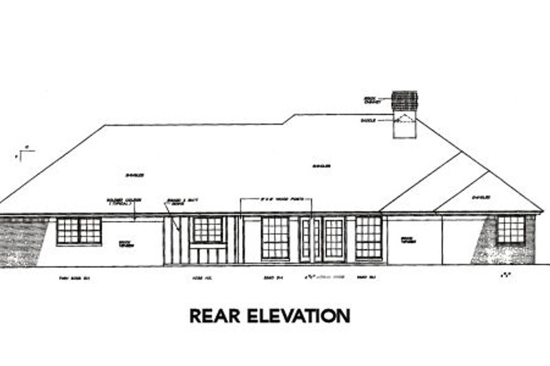 Traditional Exterior - Rear Elevation Plan #310-220 - Houseplans.com