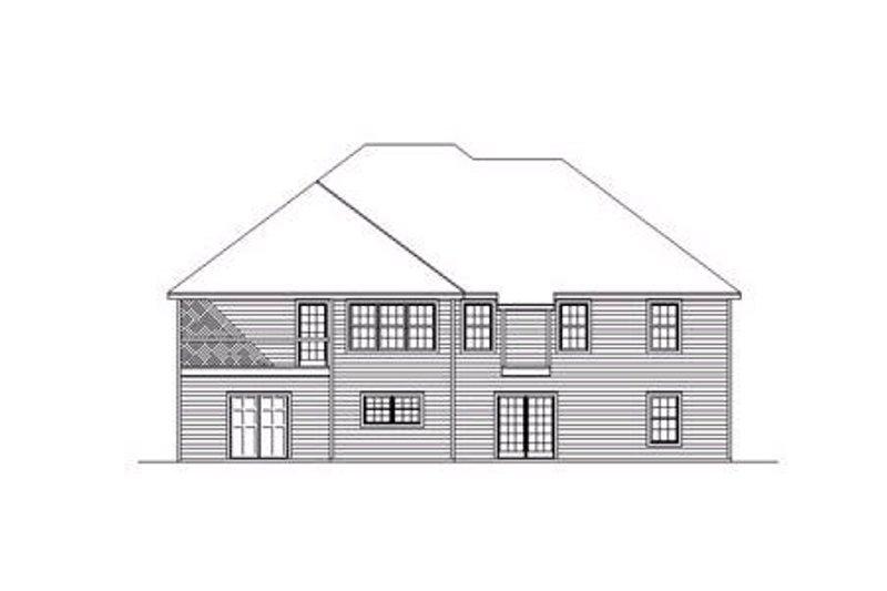 Traditional Exterior - Rear Elevation Plan #31-120 - Houseplans.com