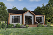 Cottage Style House Plan - 2 Beds 1 Baths 1200 Sq/Ft Plan #25-4927