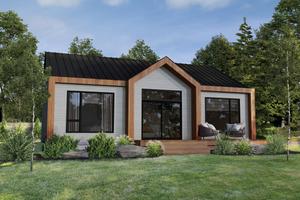 Cottage Exterior - Front Elevation Plan #25-4927