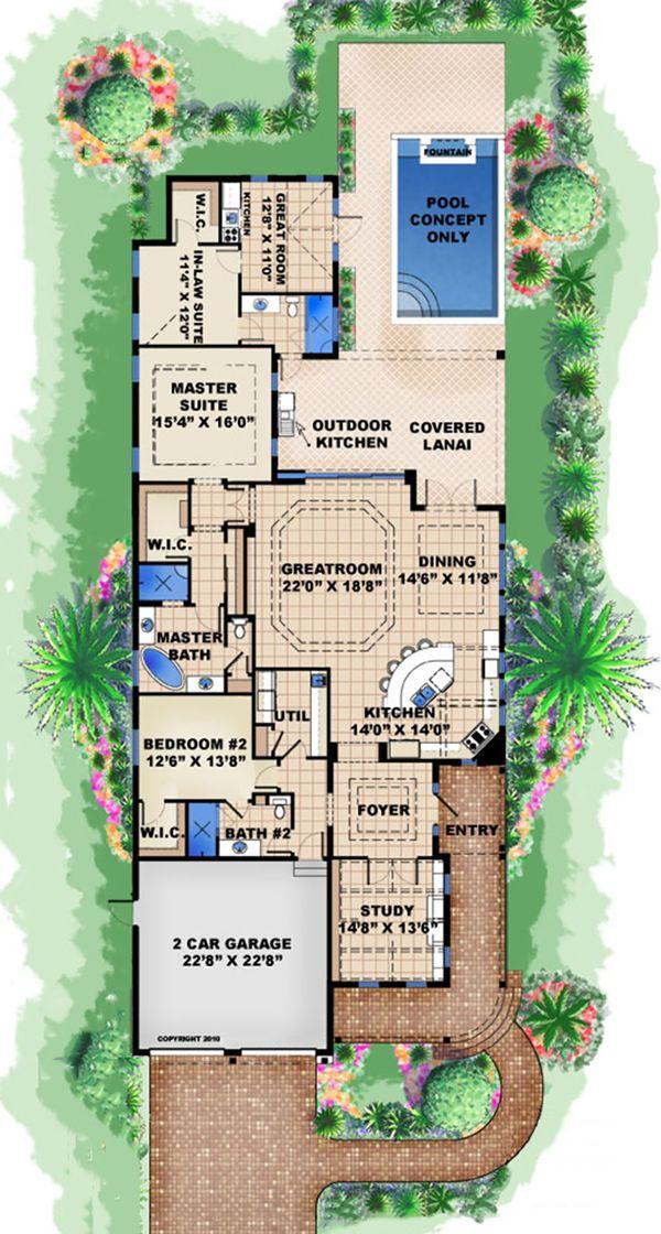 Beach Floor Plan - Main Floor Plan #27-510