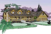 Traditional Style House Plan - 3 Beds 3 Baths 2484 Sq/Ft Plan #60-575 Exterior - Front Elevation