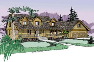Traditional Exterior - Front Elevation Plan #60-575
