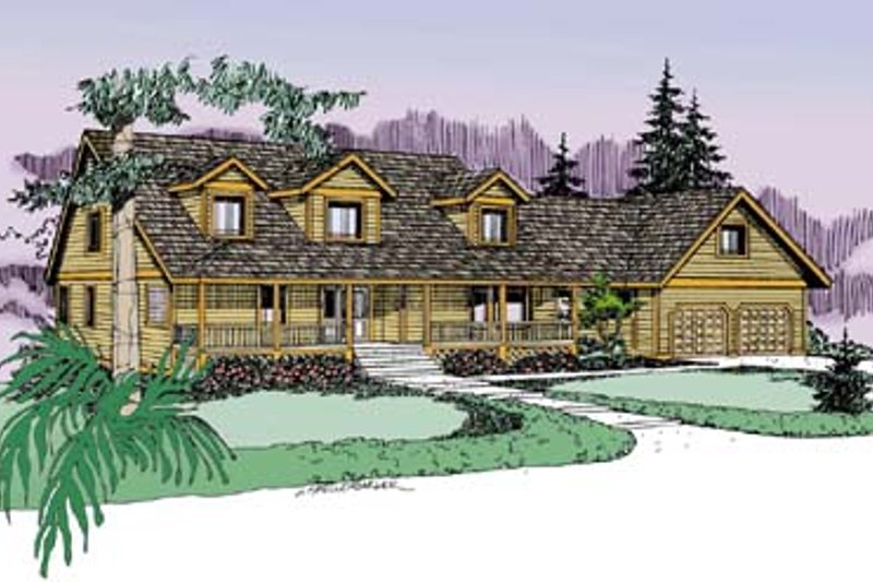 Traditional Exterior - Front Elevation Plan #60-575 - Houseplans.com
