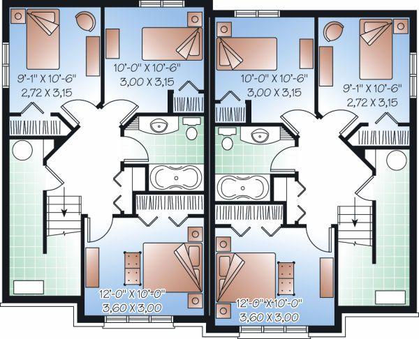 European Floor Plan - Lower Floor Plan #23-775
