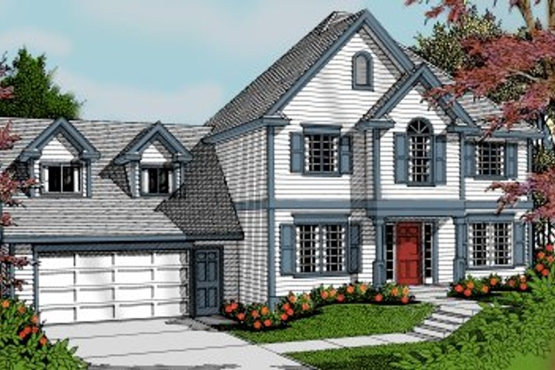 Traditional Exterior - Front Elevation Plan #100-227 - Houseplans.com
