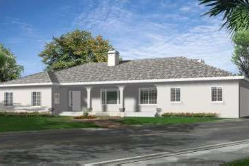 Adobe / Southwestern Style House Plan - 3 Beds 3.5 Baths 2913 Sq/Ft Plan #1-712 Exterior - Front Elevation