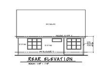 Craftsman Exterior - Rear Elevation Plan #20-2280