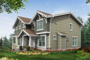 Country Style House Plan - 3 Beds 2.5 Baths 2675 Sq/Ft Plan #132-118 Exterior - Rear Elevation