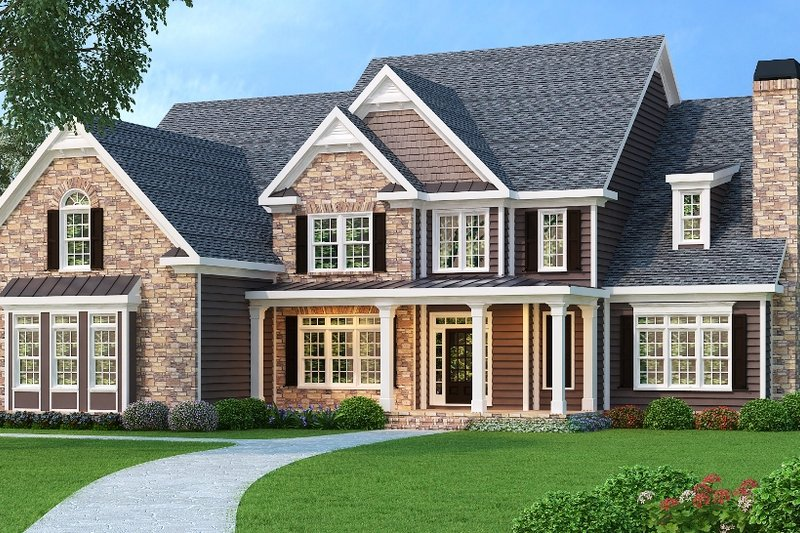 Dream House Plan - Traditional Exterior - Front Elevation Plan #419-174