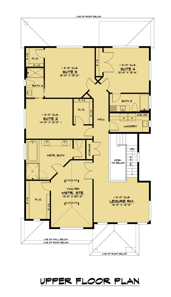 House Design - Contemporary Floor Plan - Upper Floor Plan #1066-131