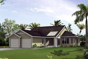 Mediterranean Style House Plan - 3 Beds 2 Baths 1907 Sq/Ft Plan #57-430 Exterior - Front Elevation