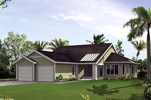 Mediterranean Exterior - Front Elevation Plan #57-430