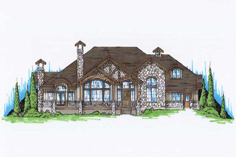 European Exterior - Front Elevation Plan #5-398