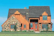 House Blueprint - Craftsman Exterior - Front Elevation Plan #72-125