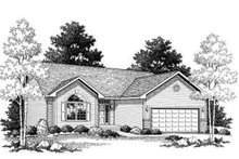 Ranch Exterior - Front Elevation Plan #70-756