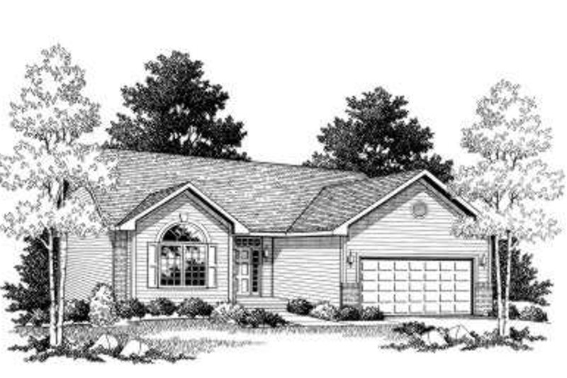 Home Plan - Ranch Exterior - Front Elevation Plan #70-756