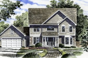 Traditional Exterior - Front Elevation Plan #316-109
