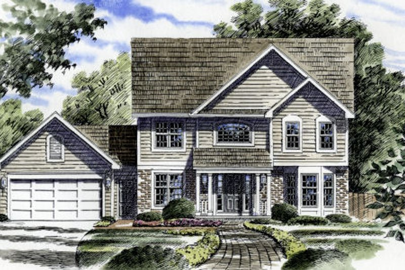 Traditional Style House Plan - 3 Beds 2.5 Baths 1953 Sq/Ft Plan #316-109