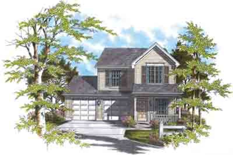 Farmhouse Exterior - Front Elevation Plan #48-192