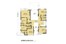 Contemporary Floor Plan - Upper Floor Plan Plan #1066-56