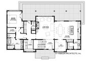 Farmhouse Style House Plan - 4 Beds 3.5 Baths 2740 Sq/Ft Plan #928-306 Floor Plan - Main Floor Plan